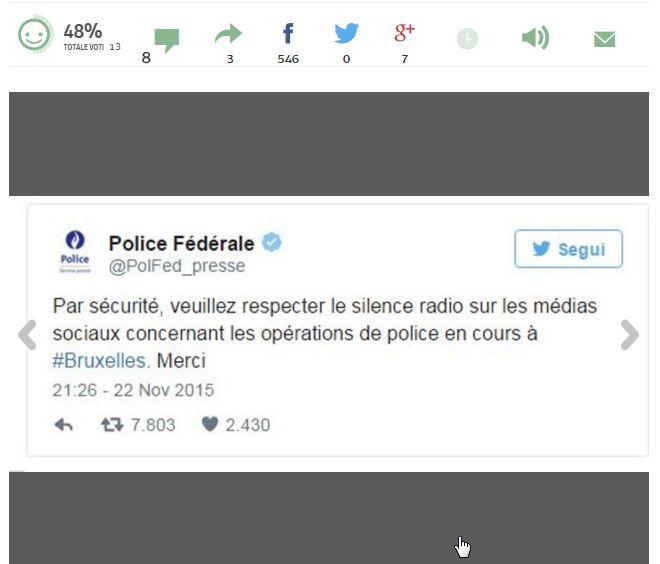 Brussels gatti polizia tweet